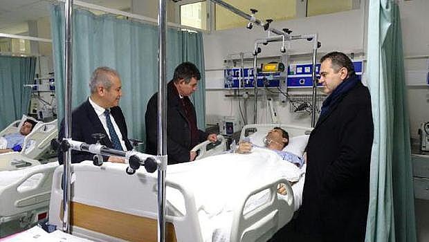 Baro yaralı avukatları ziyaret etti