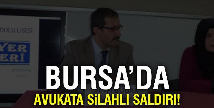 Bursa'da icra takibi yapan avukata silahlı saldırı! baro'dan kınama geldi